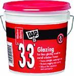 DAP 12019 33 WHITE GLAZING SIZE:1 GALLON.