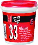 DAP 12120 33 WHITE GLAZING SIZE:0.5 PINT.