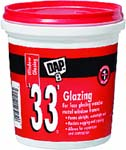 DAP 12121 33 WHITE GLAZING SIZE:PINT.