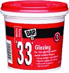 DAP 12122 33 WHITE GLAZING SIZE:QUART.