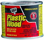 DAP 21502 PLASTIC WOOD SOLVENT WOOD FILLER NATURAL SIZE:4 OZ PACK:12 PCS.