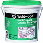 DAP 25192 WELDWOOD MULTI-PURPOSE CERAMIC TILE ADHESIVE SIZE:1 GALLON.