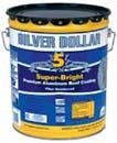 GARDNER GIBSON 6225-GA SILVER DOLLAR PREMIMUM FIBERED ALUMINUM ROOF COATING SIZE:5 GALLONS.