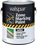 VALSPAR 137 ZONE MARKING PAINT LATEX BLUE SIZE:1 GALLON.