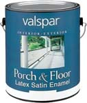 VALSPAR 1589 LATEX INT / EXT SATIN ENAMEL PORCH & FLOOR TILE RED SIZE:1 GALLON.