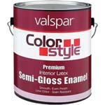 VALSPAR 26200 COLOR STYLE INT LATEX S/G WHITE SIZE:1 GALLON.