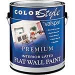 VALSPAR 26300 COLOR STYLE INT LATEX FLAT WHITE SIZE:1 GALLON.