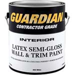 VALSPAR 455 GUARDIAN CONTRACTOR INT LATEX S/G WALL & TRIM WHITE SIZE:1 GALLON.