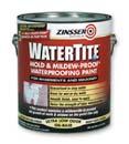 ZINSSER 05001 WATERTITE MILDEW PROOF WATERPROOFING PAINT SIZE:1 GALLON.