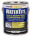 ZINSSER 05021 WATERTITE-LX LATEX MILDEW PROOF WATERPROOFING PAINT SIZE:1 GALLON.